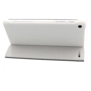 Чехол флип подставка сегментарный на пластиковой основе для Huawei MediaPad T1 7.0/T2 7.0 Белый