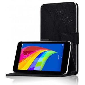 Чехол подставка на поликарбонатной основе с декоративным тиснением для Huawei MediaPad T1 7.0/T2 7.0 Черный