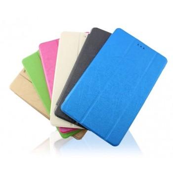 Текстурный чехол флип подставка сегментарный Glossy Shield на транспарентной поликарбонатной основе для Huawei MediaPad T1 8.0