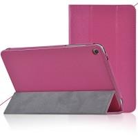 Сегментарный чехол подставка с рамочной защитой текстура Золото для Huawei MediaPad T1 8.0 Пурпурный