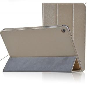 Сегментарный чехол подставка с рамочной защитой текстура Золото для Huawei MediaPad T1 8.0 Бежевый