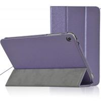 Сегментарный чехол подставка с рамочной защитой текстура Золото для Huawei MediaPad T1 8.0 Фиолетовый