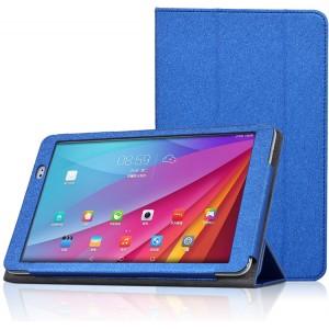 Текстурный чехол подставка с рамочной защитой для Huawei MediaPad T1 10.0 Синий