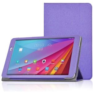 Текстурный чехол подставка с рамочной защитой для Huawei MediaPad T1 10.0 Фиолетовый