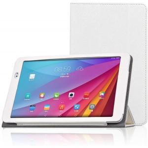 Текстурный чехол подставка с рамочной защитой для Huawei MediaPad T1 10.0 Белый