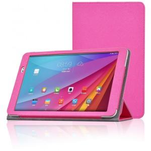 Текстурный чехол подставка с рамочной защитой для Huawei MediaPad T1 10.0 Пурпурный