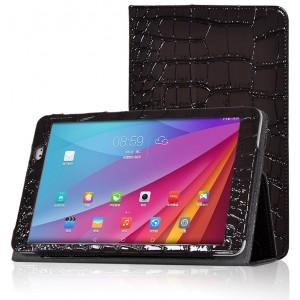 Чехол подставка с рамочной защитой серия Croco Pattern для Huawei MediaPad T1 10.0 Коричневый