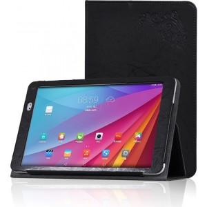Чехол подставка с рамочной защитой и декоративным тиснением для Huawei MediaPad T1 10.0 Черный
