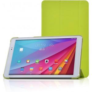 Полиуретановый чехол флип подставка сегментарный на пластиковой основе для Huawei MediaPad T1 10.0 Зеленый
