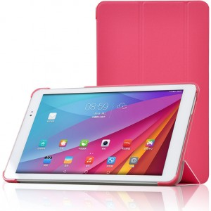 Полиуретановый чехол флип подставка сегментарный на пластиковой основе для Huawei MediaPad T1 10.0 Пурпурный