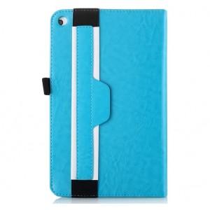 Чехол подставка с рамочной защитой и держателем для кисти для Huawei MediaPad T1 10.0 Голубой