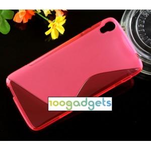 Силиконовый S чехол для Alcatel One Touch Idol 3 (5.5) Красный