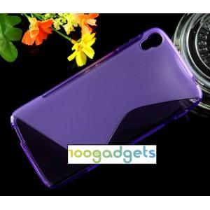 Силиконовый S чехол для Alcatel One Touch Idol 3 (5.5) Фиолетовый