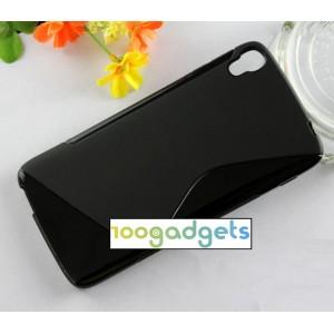 Силиконовый S чехол для Alcatel One Touch Idol 3 (5.5) Черный