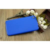 Силиконовый матовый чехол для Alcatel One Touch Idol 3 (5.5) Синий