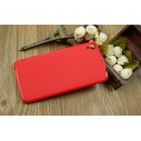 Силиконовый матовый чехол для Alcatel One Touch Idol 3 (5.5) Красный
