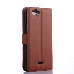 Чехол портмоне подставка с защелкой для Explay Fresh Коричневый
