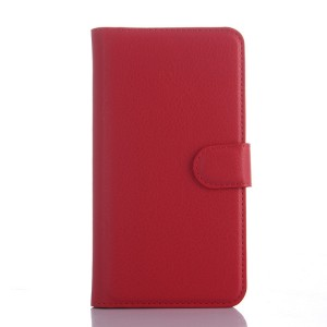 Чехол портмоне подставка с защелкой для Explay Fresh Красный