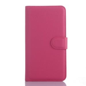 Чехол портмоне подставка с защелкой для Explay Fresh Пурпурный
