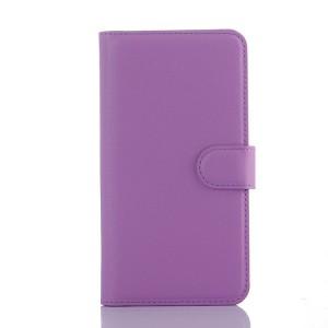 Чехол портмоне подставка с защелкой для Explay Fresh Фиолетовый