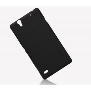 Пластиковый матовый нескользящий премиум чехол для Sony Xperia C4
