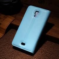Чехол портмоне подставка с защелкой для Explay Vega Голубой