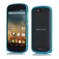 Металлический бампер для Yotaphone 2 Голубой