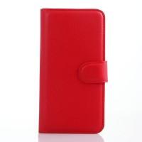 Чехол портмоне подставка с защелкой для Alcatel One Touch Idol 3 (4.7) Красный
