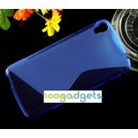 Силиконовый S чехол для Alcatel One Touch Idol 3 (4.7) Синий