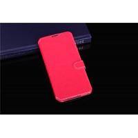 Чехол портмоне подставка на силиконовой основе с магнитной защелкой для Alcatel One Touch Idol 3 (4.7) Пурпурный