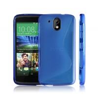 Силиконовый S чехол для HTC Desire 526 Синий