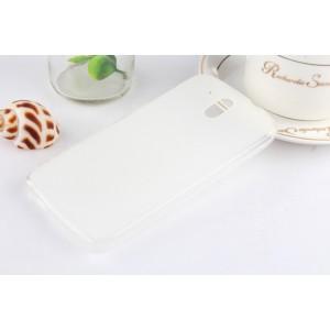 Силиконовый матовый полупрозрачный чехол для HTC Desire 526 Белый