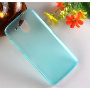 Силиконовый матовый чехол для HTC Desire 526 Голубой