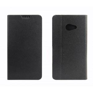 Чехол флип подставка на силиконовой основе с внутренним карманом для Acer Liquid M220 Черный