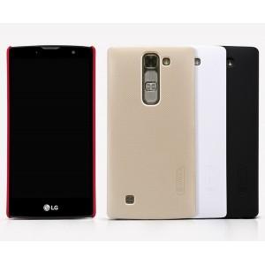Пластиковый матовый нескользящий премиум чехол для LG Magna