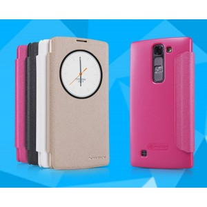 Текстурный чехол смарт флип с фирменным круглым окном вызова на пластиковой нескользящей основе для LG G4c