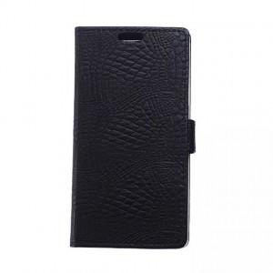 Кожаный чехол портмоне подставка с защелкой текстура Крокодил для LG Spirit