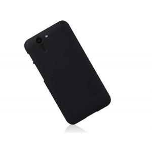 Пластиковый матовый нескользящий премиум чехол для ASUS Padfone S Черный