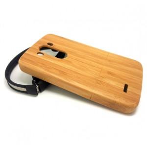 Натуральный деревянный чехол сборного типа (бамбуковые и ореховые породы) для LG G3 Бежевый
