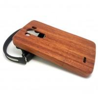 Натуральный деревянный чехол сборного типа (бамбуковые и ореховые породы) для LG G3 Коричневый