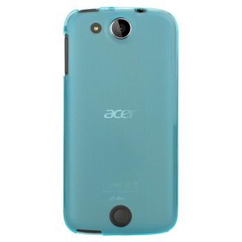 Силиконовый матовый полупрозрачный чехол для Acer Liquid Jade Z Голубой