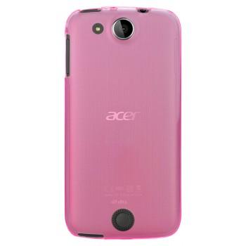 Силиконовый матовый полупрозрачный чехол для Acer Liquid Jade Z Розовый