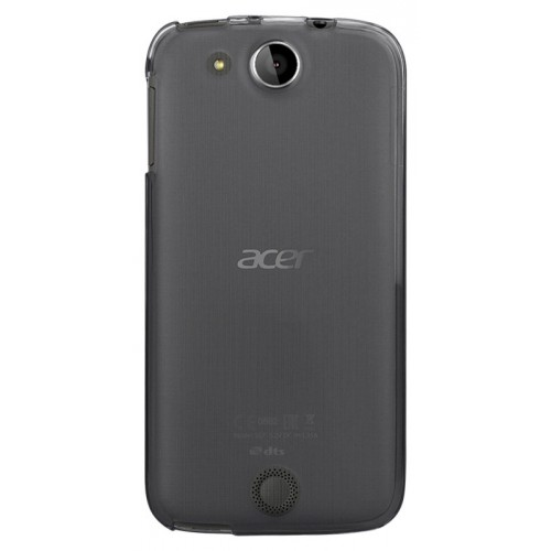 Силиконовый матовый полупрозрачный чехол для Acer Liquid Jade Z Черный
