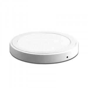 Беспроводное круглое qi зарядное устройство 69х69 мм (5 В, 1.5 А) Белый