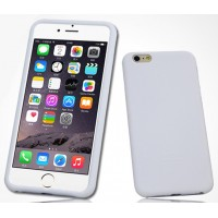 Силиконовый матовый софт-тач премиум чехол для Iphone 6 Белый