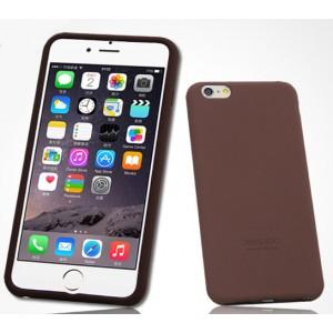 Силиконовый матовый софт-тач премиум чехол для Iphone 6 Коричневый