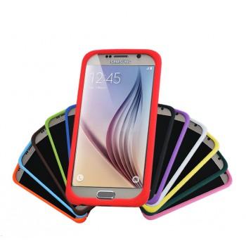 Силиконовый матовый софт-тач премиум чехол для Samsung Galaxy S6