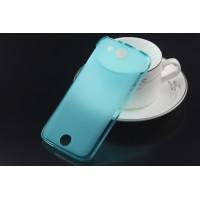 Силиконовый матовый полупрозрачный чехол для Acer Liquid Jade Голубой