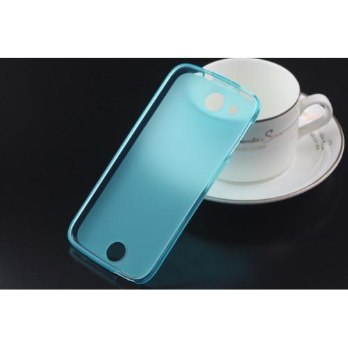 Силиконовый матовый полупрозрачный чехол для Acer Liquid Jade Черный