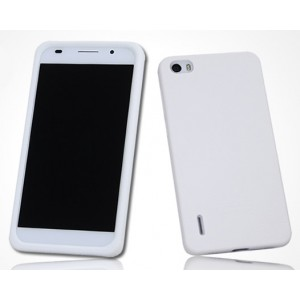 Силиконовый софт-тач премиум чехол для Huawei Honor 6 Белый
